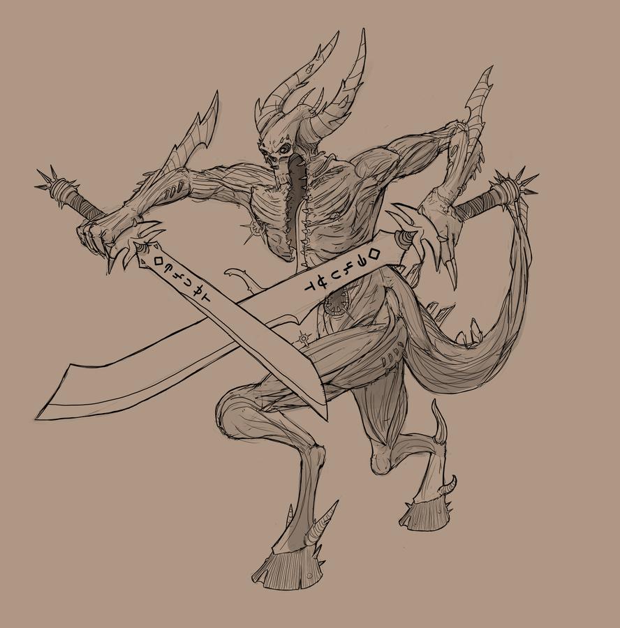 Demon Sketch by G-Townsend