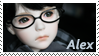 Young Alex Stamp by Zimbl