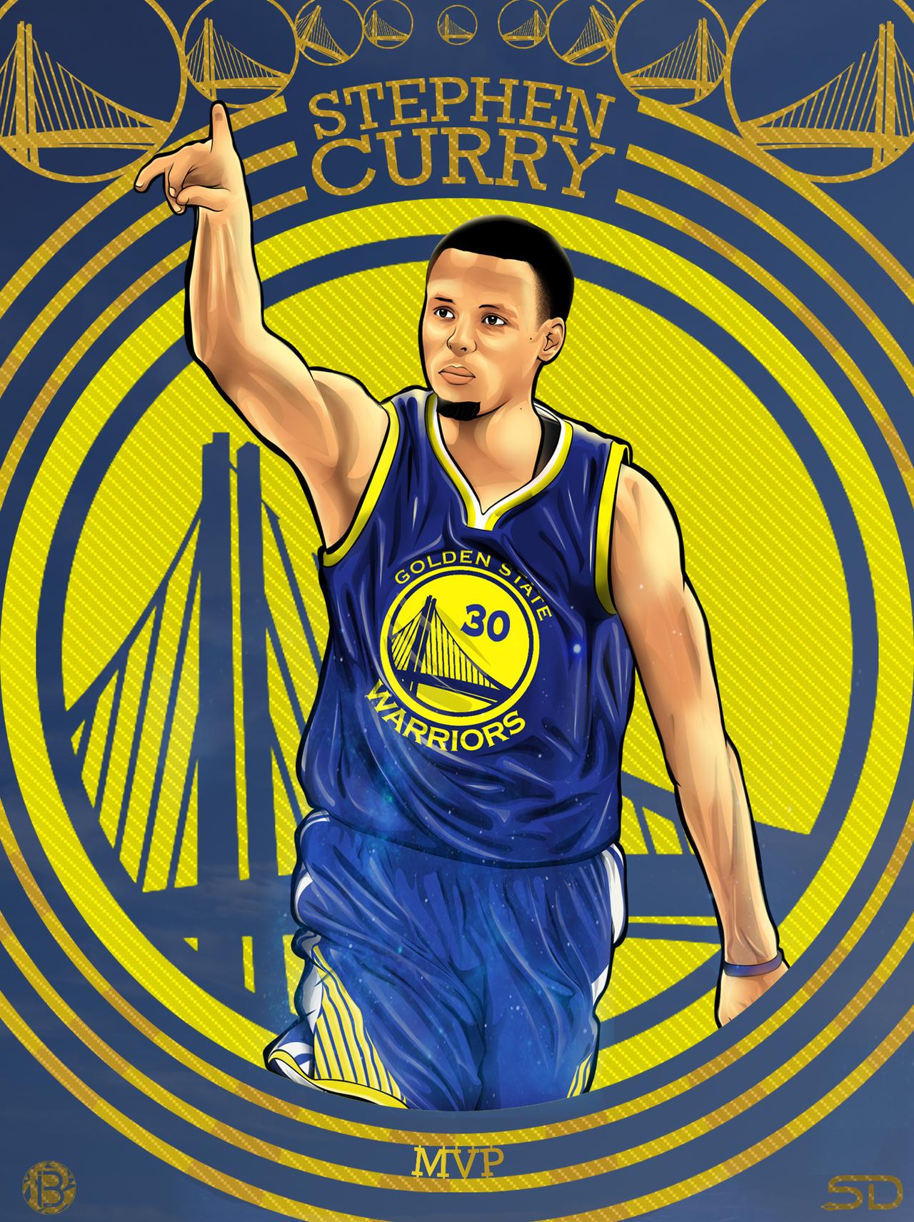 Stephen Curry Cartoon Wallpaper 6840 Pixhd
