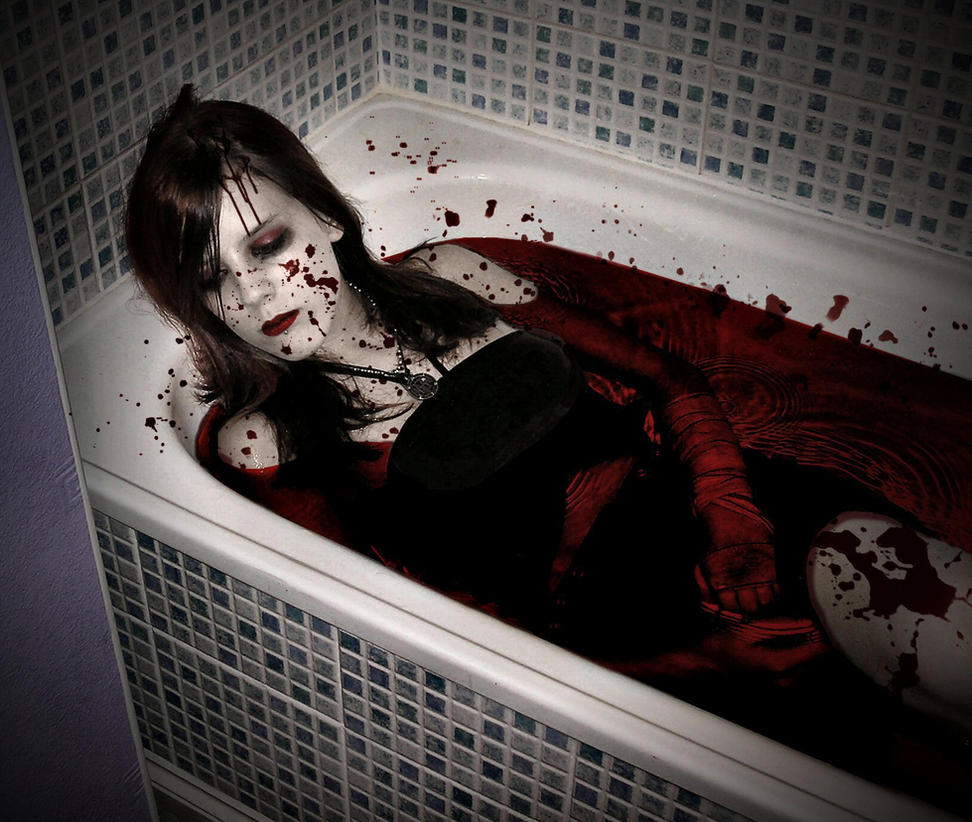how to make a bath tub of blood
