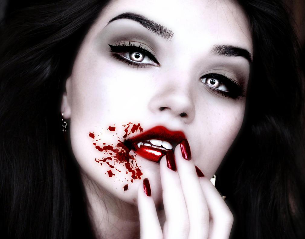 gothic vampire bloody girl - photo #39