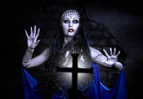 Vampire Mervilina and the Cross by Darkest-B4-Dawn