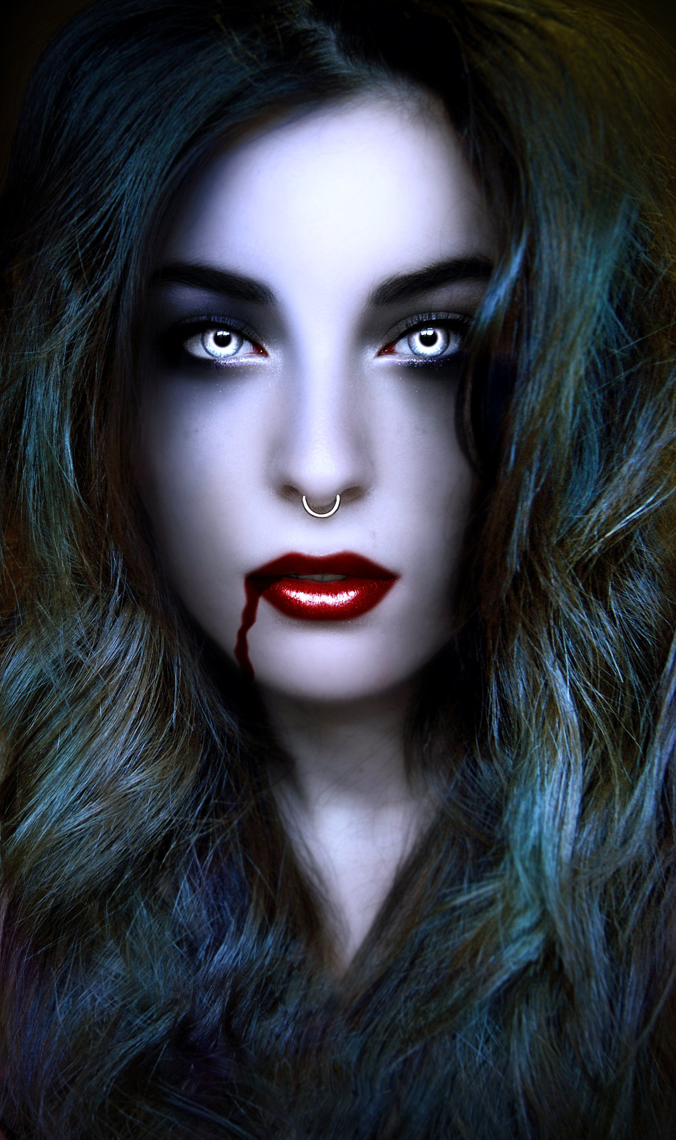 Heiße sexy Vampir Mädchen Comics