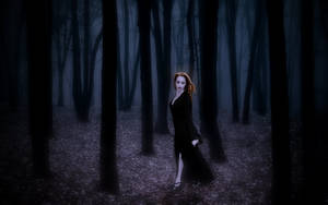 Vampire Trish-Death in the Woods by Darkest-B4-Dawn