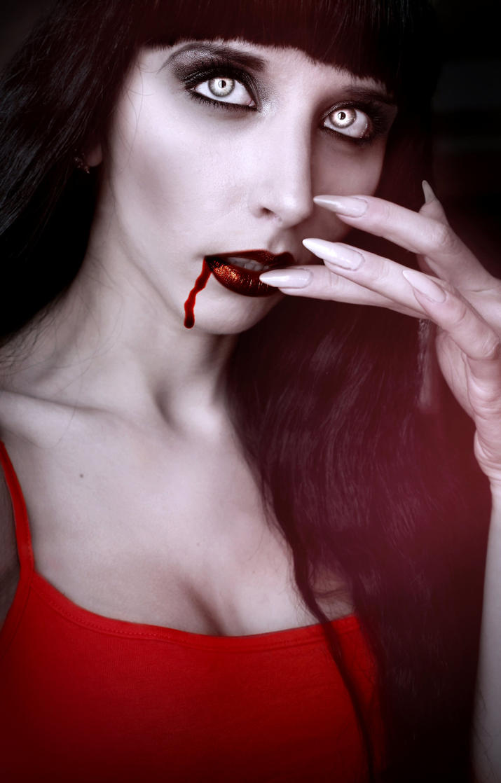 Vampire Katrin-Drop of Blood by Darkest-B4-Dawn