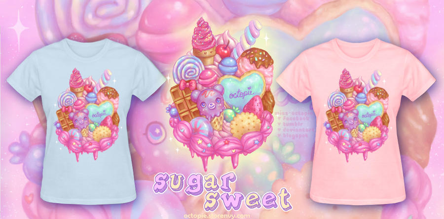 Sugar Sweet Shirts by miss-octopie