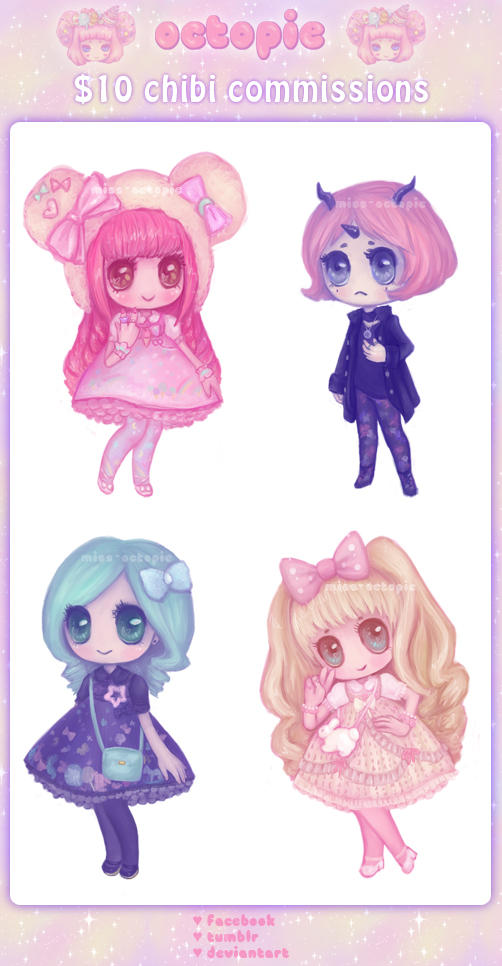 chibi commissions now open by miss-octopie