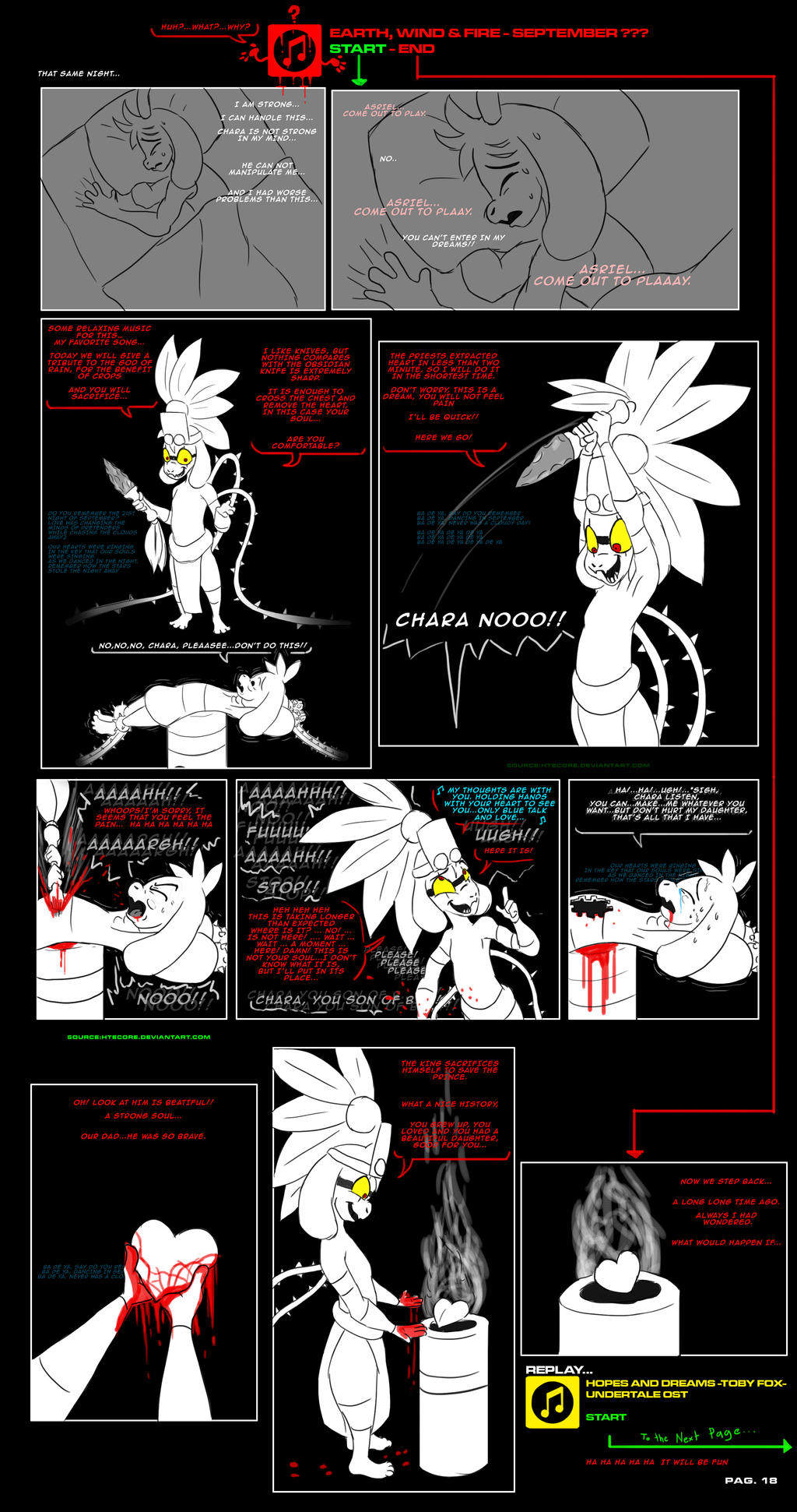 asriel synth undertale au comic pag 18 by htecore on