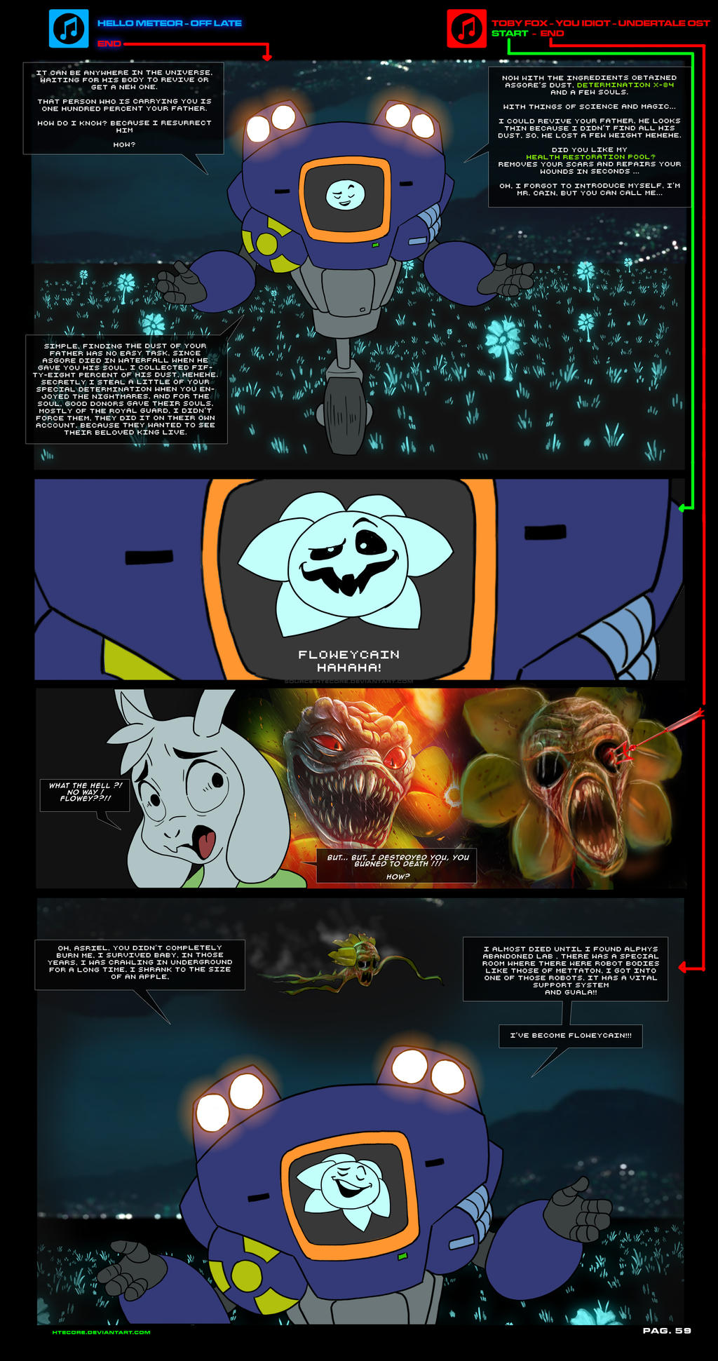 asriel synth undertale au comic pag 59 by htecore on