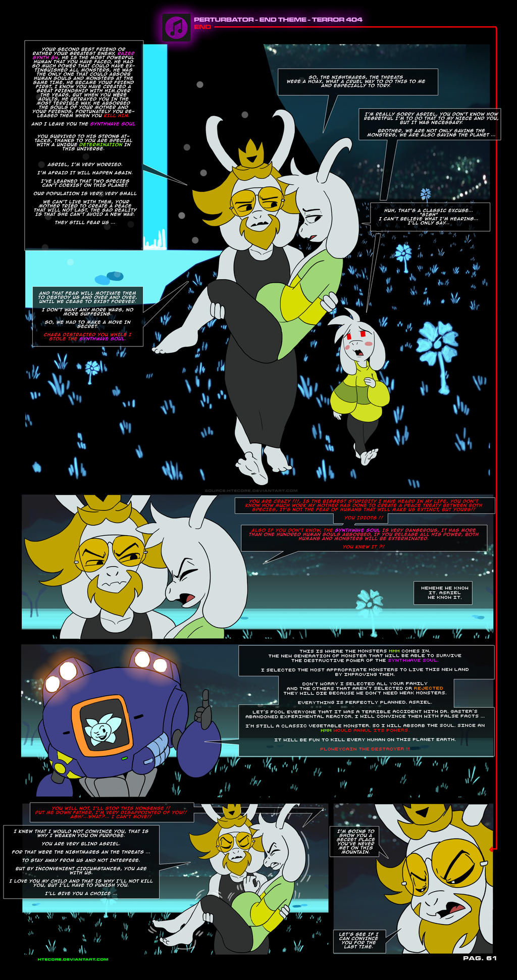 Asriel Synth Undertale AU comic pag 61 by HTECORE on ...