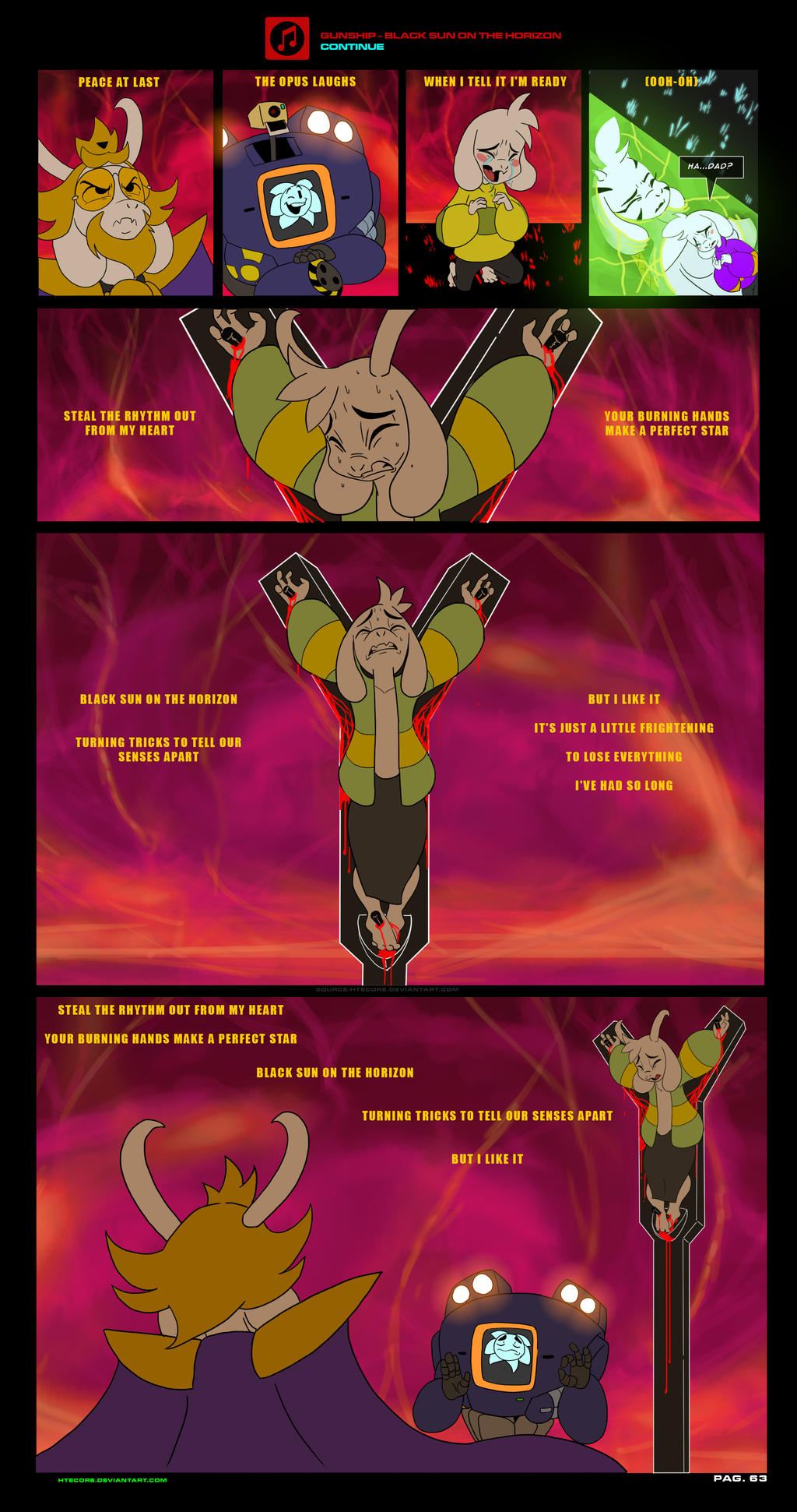 asriel synth undertale au comic pag 63 by htecore on