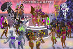 Retro Futuristic 80's beach party (VHS effect off)
