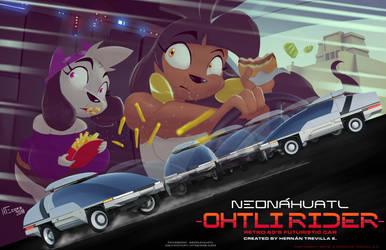 Neonahuatl Ohtli Rider by cybertrevil