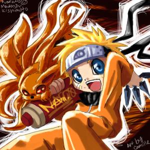 Naruto and Kyuubi :3 by kanmi