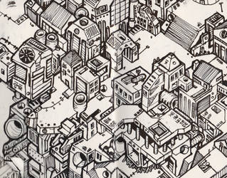 Atoms4D City Illustration #003 by owenprescott