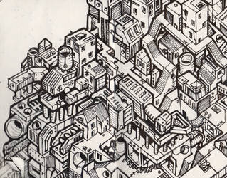 Atoms4D City Illustration #004 by owenprescott