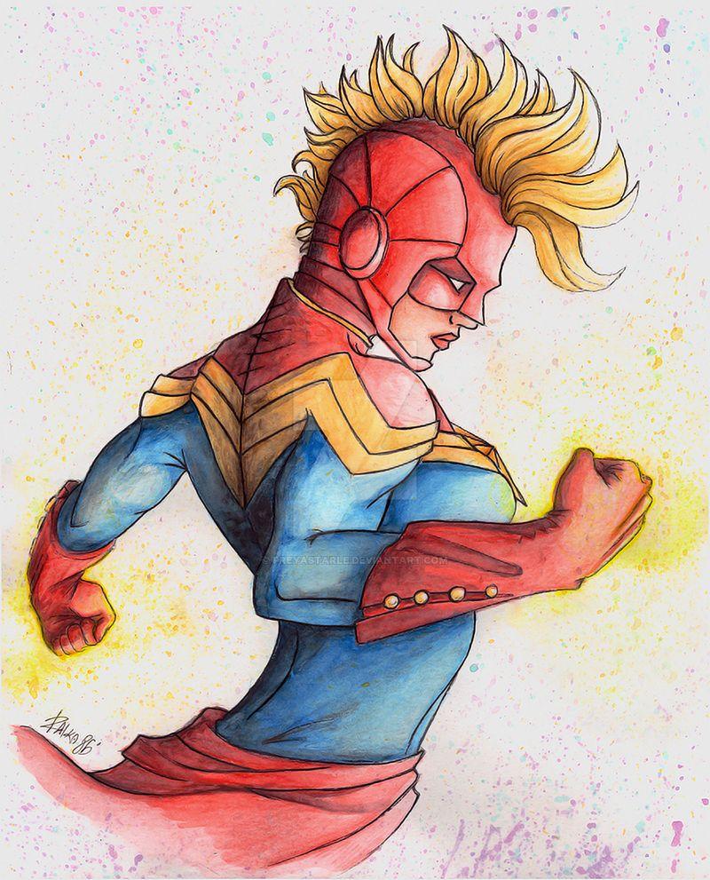 Captain Marvel-Carol Danvers by PreyaStarle on DeviantArt
