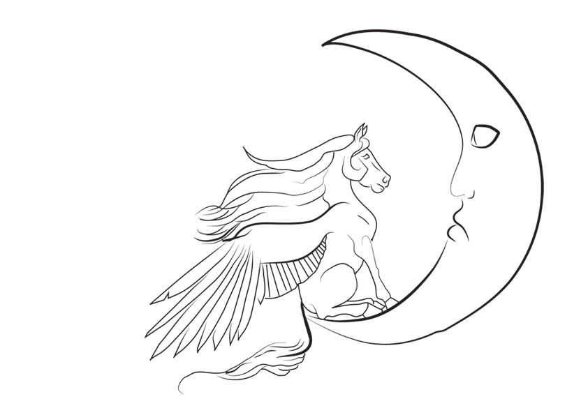 Line Drawing Moon : Sad moon lines by astralseed on deviantart