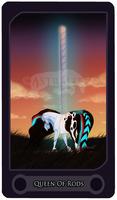 Queen of Rods - Tarot Card