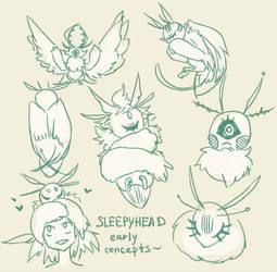 Sleepyheads [new possible species?] by nextlvl-adopts