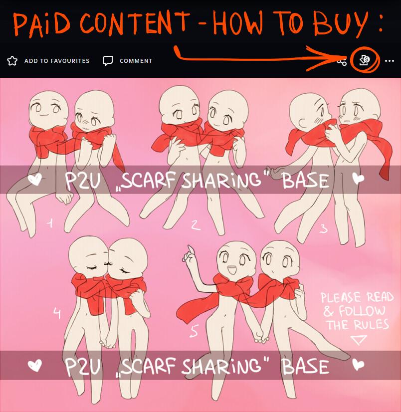 P2U couple base - scarf sharing