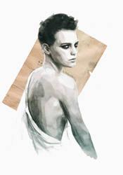 Handmade love (portrait of Erika Linder) by estherproductos