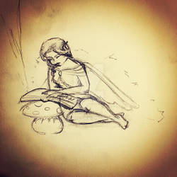 Reading Fairy Sketch