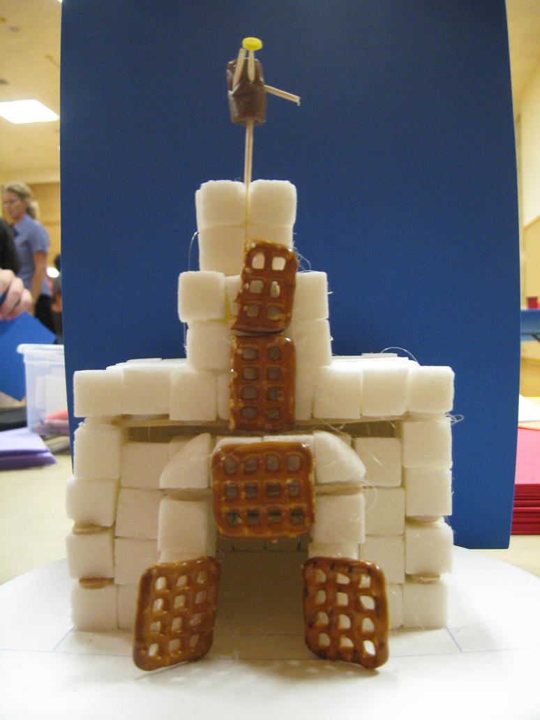 how to make an aztec temple out of sugar cubes