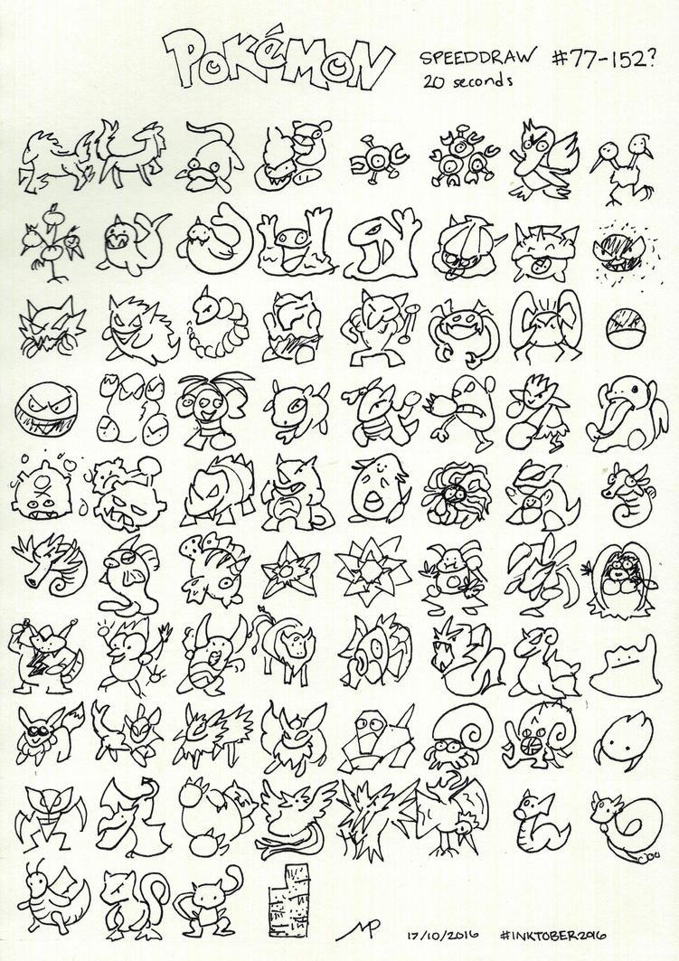 Inktober 17: Pokemon Speed Draw #2 by harbour