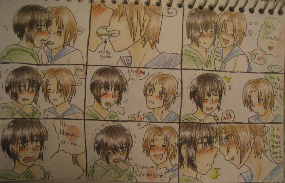 ItaPan: The Effects of Mint Gum by Kawaii-Kushami on DeviantArt
