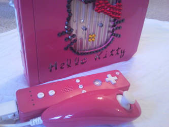 Hello Kitty Nintendo Wii - 3 by ceo-mod-my