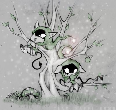 Cat Gremlinz - Green by SCIFIJACKRABBIT