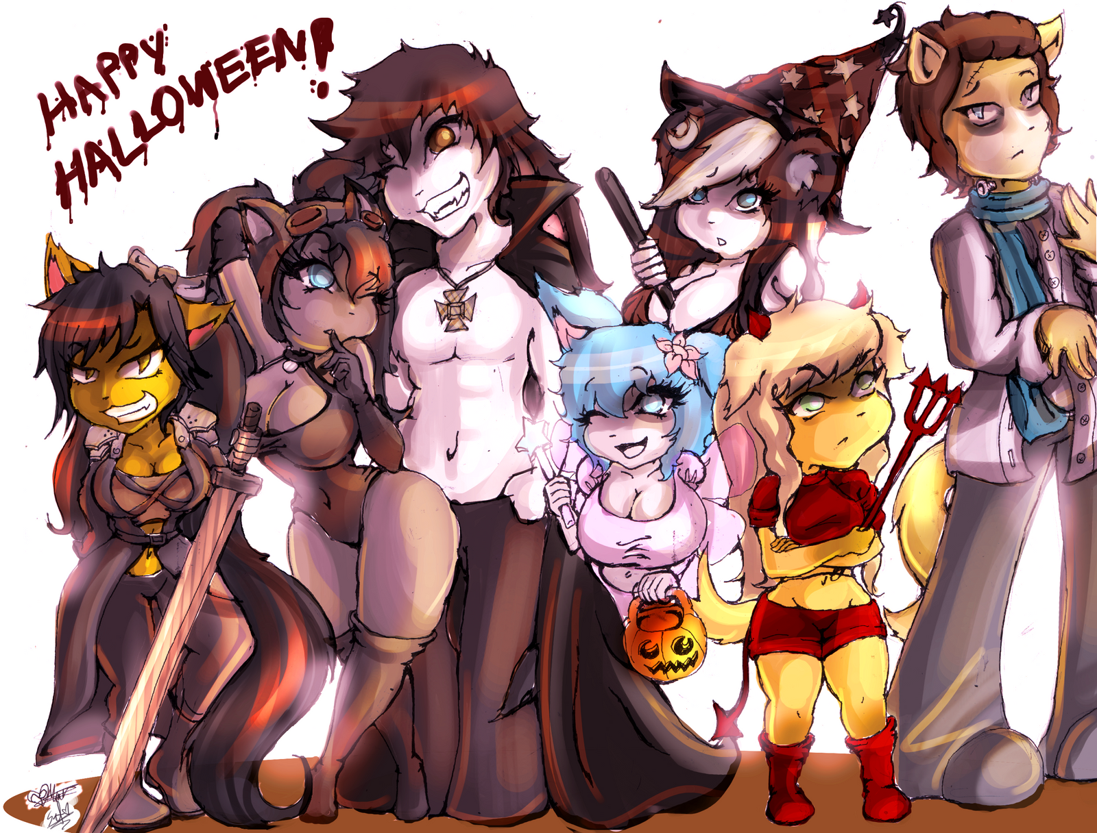 Happy Halloween by SCIFIJACKRABBIT