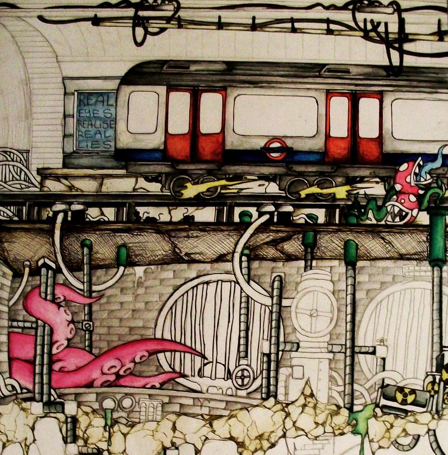 London Underground by SCIFIJACKRABBIT