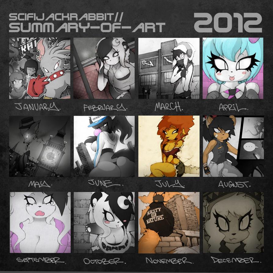 SCIFIJACKRABBIT ~ Art Summary 2012 by SCIFIJACKRABBIT