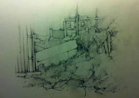 Forgotten London sketch ~ 2 by SCIFIJACKRABBIT