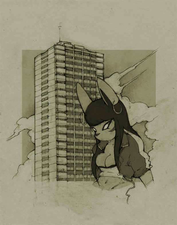 ~ Council estate Jackal ~ by SCIFIJACKRABBIT