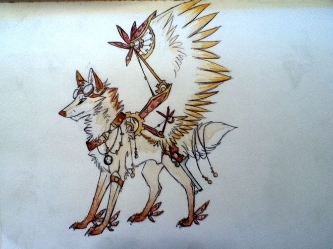 how to draw steampunk animals