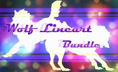 Wolf Lineart Bundle by Andiliion