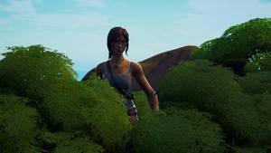 Giantess Fortnite Lara Croft