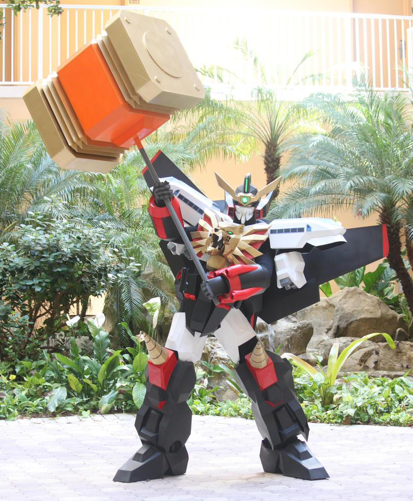 GaoGaiGar Cosplay - 3 - GOLDION HAMMER! by UbersCosplay