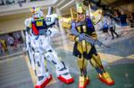 Gundam MK-II and Hyaku-Shiki Cosplay Duo