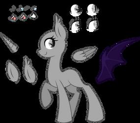 .-Pony Base-. Female Adoptable by SH0STAKOVlTCH