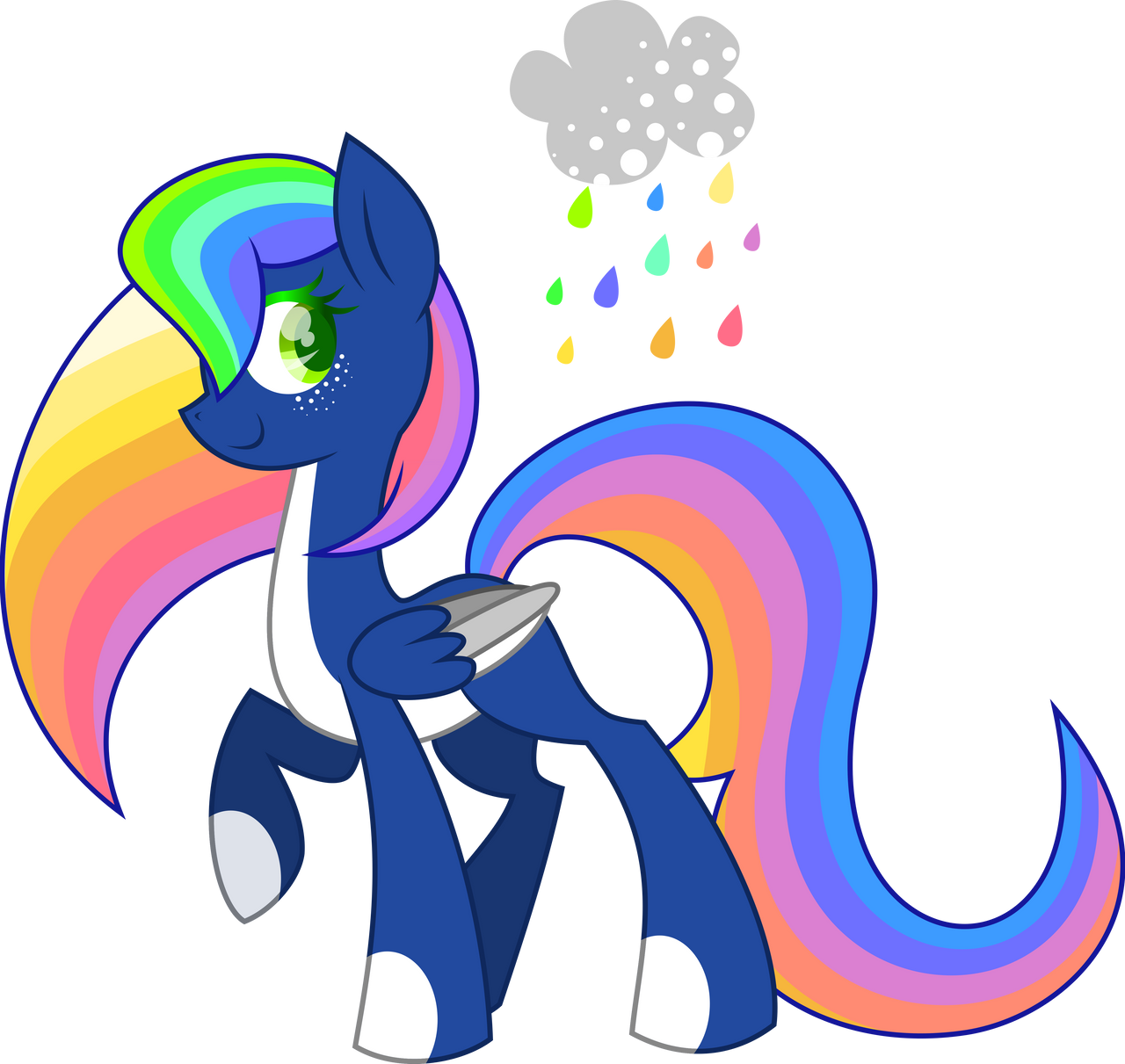 50PonyChallenge- 8# Rainbow :CLOSED: by XantaL-XGB