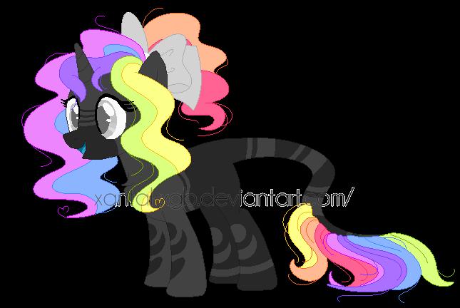 ~Adoptables~. Rainbow Pastel Pony :CLOSED: by XantaL-XGB