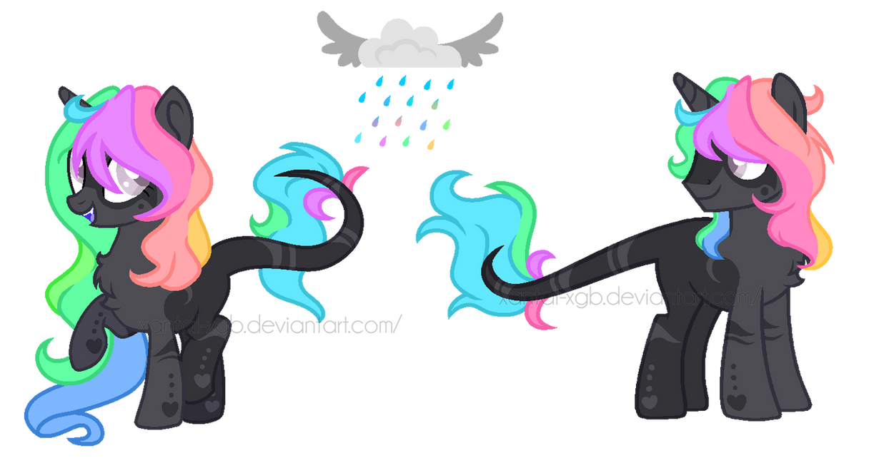:|Custom|: Rainchrome Ponies - Bunny-Bye-Adopts by XantaL-XGB