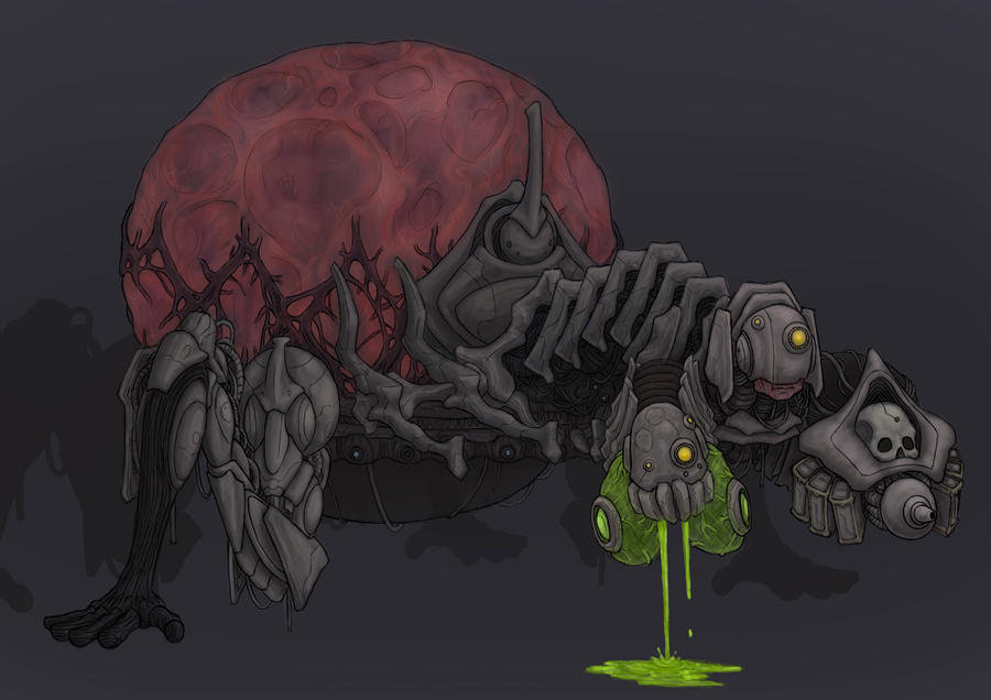 Bio-Mech Cerberus by CorianderCollecter