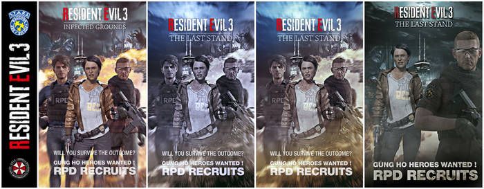 Resident Evil 3 Posters (color variations)