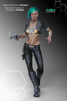Ash - 3D - 1st draft