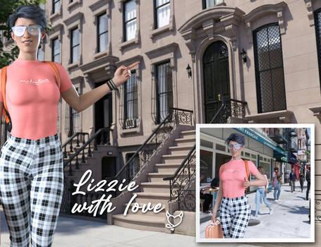 Lizzie and the webcam  - New York Studio